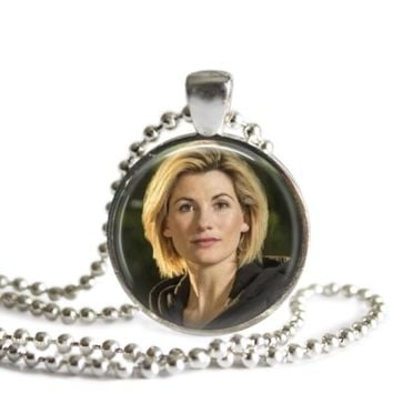 Doctor Who The 13th Doctor Silver Plated Picture Pendant Necklace