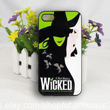 Wicked Broadway Musical iPhone 4s case,samsung galaxy s3/s4/s5 case,iphone 4/4s case,iphone 5/5s case,iphone 5c cover,Personalized