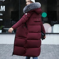 New 2017 Winter Jacket Coat Women Coat Thick Parkas Female Warm overcoat Collar High Quality Bomber jacket Fur collar 4 Colour