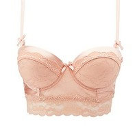 SPARKLE LACE LONG LINE BRA
