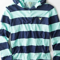AEO Men's Striped Hoodie T-shirt