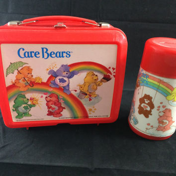 Care Bear Lunchbox and Thermos 1983