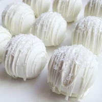 Wedding Day Cake Truffles - Cake Balls - White Chocolate Wedding Day Cake Bites