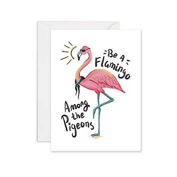 Fabulous Flamingo - Blank Card