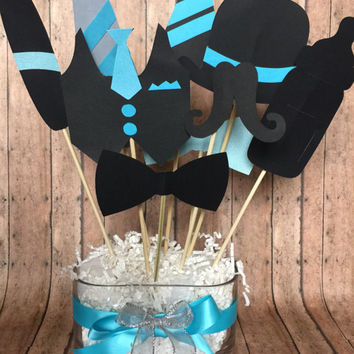 lil man party table centerpiece , table decoration centerpiece for lil man party , lil man baby shower party decor , lil man  mustache party