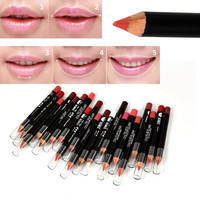 Lip Liner Pencil Pen Waterproof Beauty Eye Eyebrow Lip Makeup Cosmetic Long Lasting Colorful Lipliner by Party Queen 20 Colors