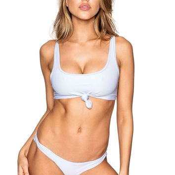 Frankie's Bikinis Greer Top - Cloud Blue