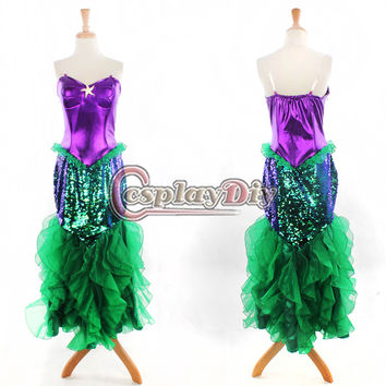 The Little Mermaid Princess Dress Adult Women Mermaid Dress Halloween Carnival Cosplay Costume