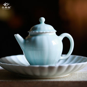 Little teapot jingdezhen ceramic teapot kung fu tea set mini household manual si
