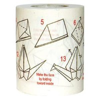 Origami Instruction Toilet Paper