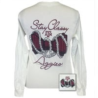 Texas A&M Aggies Stay Classy Pearls Long Sleeves T-Shirt