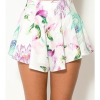 Floral Stroke Shorts - CLOTHING