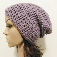 LazyDay Slouch Beanie  Lavender