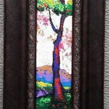New Day #50 Acrylic Paint on Wood Framed Art Original
