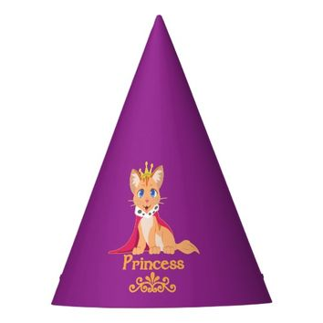 Princess Kitten Party Hat