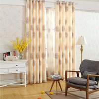 Printed hand painted shading cloth curtain,curtains for living room,kitchen curtains,window curtain living room,window curtain
