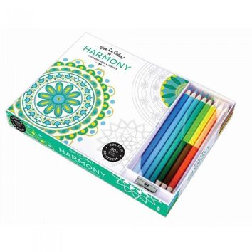 Harmony Adult Coloring Book Color Therapy Kit