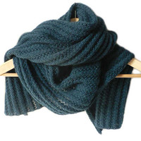 Mohair blend unisex scarf by foldi on Etsy