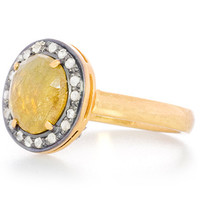 Yellow Sapphire Chai Talisman Protection Ring