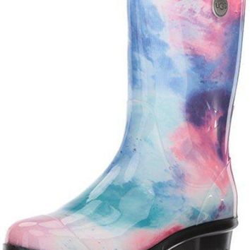 UGG Women's Sienna Watercolor Rain Boot