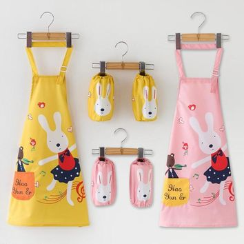 Waterproof aprons Children's drawing clothes Pupils Anti-wearing smock Sleeveless Painting clothes aprons funny kids cute aprons