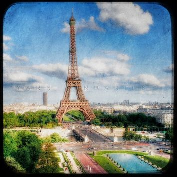 Paris Eiffel Tower, Paris decor, Paris Photography, travel summer, France, Eiffel Tower photo, Eiffel Tower decor, Paris art, 6x6(15x15cm)