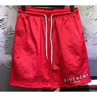 Givenchy Trending Women Men Stylish Letter Print Sport Running Shorts Beach Shorts Red I12620-1
