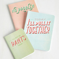 ModCloth Quirky You Jot This! Notebook Set