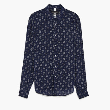 PRINTED VOILE SHIRT DETAILS