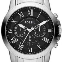 Fossil Men's FS4736 Grant Stainless Steel Watch
