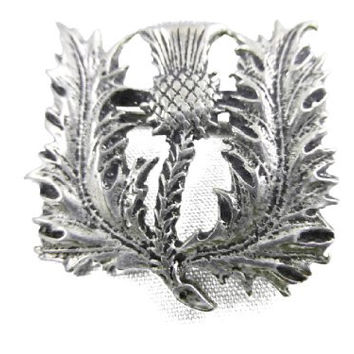 Spiny Scottish Thistle Pewter Pin
