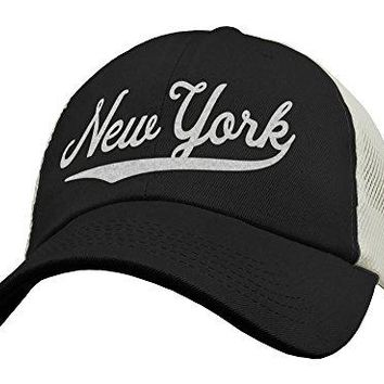 State of New York Trucker Hat Baseball Cap - Snapback Mesh Low Profile Unstructured Sports - NY USA