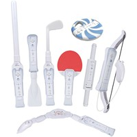 Cta Digital Nintendo Wii 8-in-1 Sports Pack For Wii Sports Resort (white)