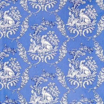 Brunschwig & Fils Fabric BR-79165.222 The Hunting Toile Blue