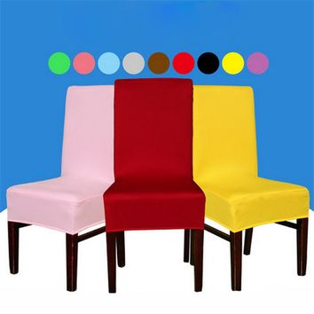 Free Shipping 2PC/Lot Elastic Lycra Chaircover Spandex Chair Cover for Wedding Party Dining Office Decor Stool Covers Slipcovers