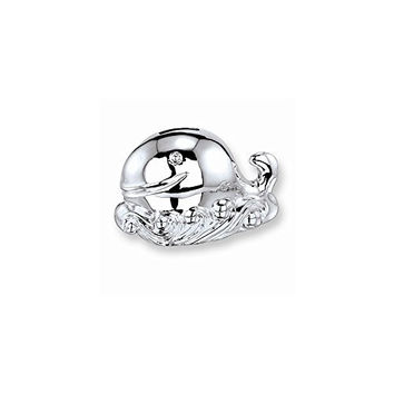 Whale Baby Silver-plated Polished Metal Bank