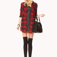 Rustic Plaid Shirt Dress