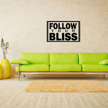 Follow Your Bliss quote wall sticker quote decal wall art decor 5463