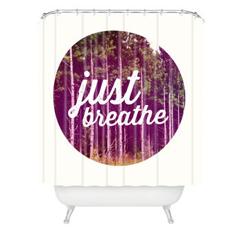 Allyson Johnson Just Breathe A Little Shower Curtain