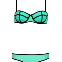 honour fashion womens Women`s Two Pieces Push Up Neoprene Bikini Swimwear