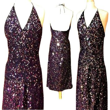 Women's Dress, maxi dress, sequin dress, cocktail dress, party dress, women's skirt, halter top SET
