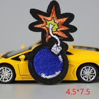 HOT sale 1PC fashion bomb Iron On Embroidered Patch For Cloth Cartoon Badge Garment Appliques DIY Accessory