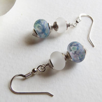 Jewelry, Glass Lampwork Beads and Sterling Silver Earrings, Statteam