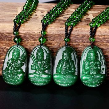 Natural Green Buddha A Buddism Buddha Pendant Saint Cut The Life Of  Buddha Zodiac Men And Women Necklace Will Day  Jade emerald