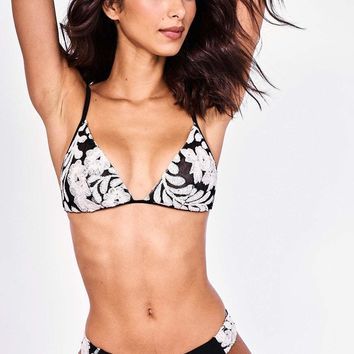 Sauvage Black Floral Lace Bikini Set