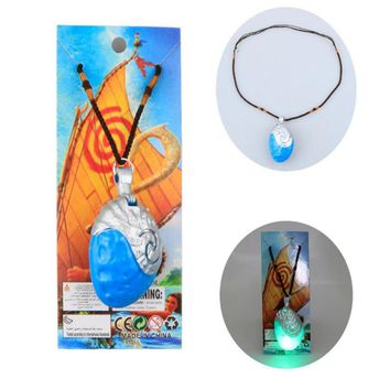 New Anime movie princess moana necklace music and led light vaiana pendant action figure juguetes kids toys toothless dragon toy