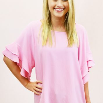 Thirty, Flirty, Thriving Top - Pink