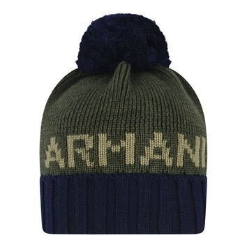 Armani Baby Boys Navy and Green Hat