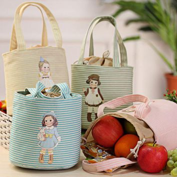 ISHOWTIENDA Fashion Thermal Insulated Box Tote Cooler Bag