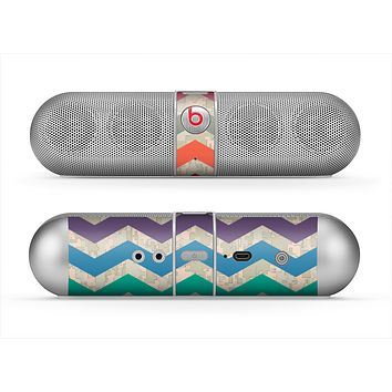The Retro Chevron Pattern with Digital Camo Skin for the Beats by Dre Pill Bluetooth Speaker